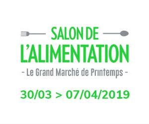 30/03 -> 07/04/2019 : Salon de l'Alimentation de Bruxelles