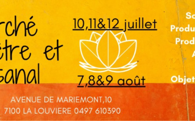 7 – 8 & 9 août – Marché bien-être et artisanal à La Louvière