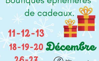 11-12 & 13/12/2020 Boutiques éphémères de Cadeaux
